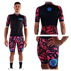 Attaquer cycling jersey and bib tights