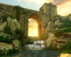 UDK - Stone Bridge Scene - Polycount Forum