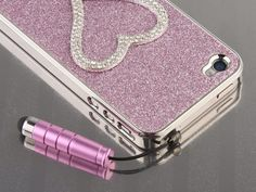 Too Cute!!! Pandamimi Girls NEWEST 2nd Generation Pink Chrome Glitter Bling Sweet Heart Crystal Rhinestone Hard Case Cover for AT Sprint Verizon iPhone 4 4S 4G With Cute Stylus + Free Screen Protector by Pandamimi, http://www.amazon.com/dp/B008M3NKTK/ref=cm_sw_r_pi_dp_gtDyqb1PXNJR4