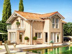 Evolution 122 von Bien-Zenker. Ein Leben lang Urlaub!  ➤ Große Auswahl mediterraner Häuser auf: https://www.fertighaus.de/stile/mediterran/?utm_source=Pinterest&utm_medium=Pinterest&utm_campaign=Mediterrane%20H%C3%A4user&utm_content=Mediterrane%20H%C3%A4user  #Fertighausde #Haustypen #Hausbau #Luxushaus #Familienhaus #Satteldach #Stadtvilla #Garten #Pool
