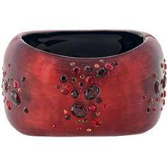 Alexis Bittar Ruby Dust Organic Hinge Bracelet