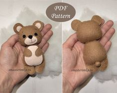 Rainbow, Sun and Clouds PDF Plush Sewing Pattern, SVG file for mini felt toys, baby mobile Baby Knitting Patterns, Baby Patterns, Baby Mobile Felt, Baby Mobiles, Bear Felt, Softie Pattern, Cute Toys, Felt Toys, Stuffed Animal Patterns