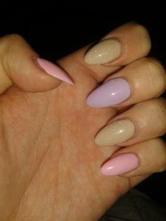 Stiletto Nails - Pastel colours