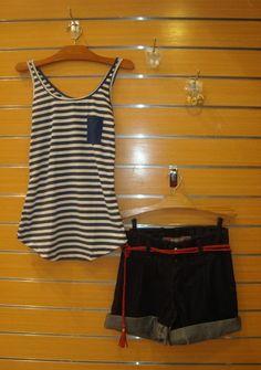 Gostei muito da blusa e da bermuda .  Loja Mercatto .