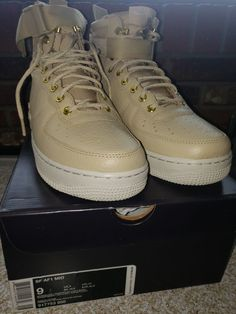 finest selection 0a3c4 45f6f -Nike SF AF1 Mid Size 9 Mushroom Tan Air Force One 1 Men s Shoes  fashion   clothing  shoes  accessories  mensshoes  athleticshoes (ebay link)