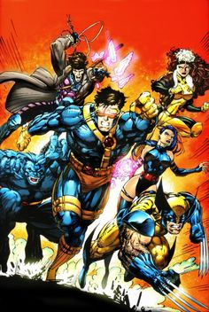 The X-Men // artwork by Jim Lee (1992) X-Men Blue Team from the X-Men Annual #1