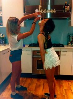 Best friend picture<3 Me and @lilly_gregory my best friend in the world have actually done this it was halaroiuos!!