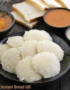 Instant Bread Idli, How to make Bread idli, No Fermenting Required recipe Idli Recipe, Recipe Mix, Veg Recipes, Snack Recipes, Cooking Recipes, Recipies, Dinner Recipes, Bread Snacks Recipe, Bread Recipes