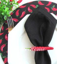 Sousplat com capa em tecido pimenta - feijoada