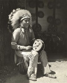 [Native American drumming] by UIC Digital Collections, via Flickr