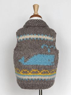 Kids Spouting Whale Vest and Monogrammed Toque – Granted Clothing Knitting Projects, Crochet Projects, Knitting Patterns, Kids Vest, Cool Kids Clothes, Kid Styles, Green And Brown, Baby Knitting, Knitted Hats