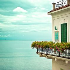 Amalfi Coast, Italy- So blue you can't tell where the water stops & the sky starts!