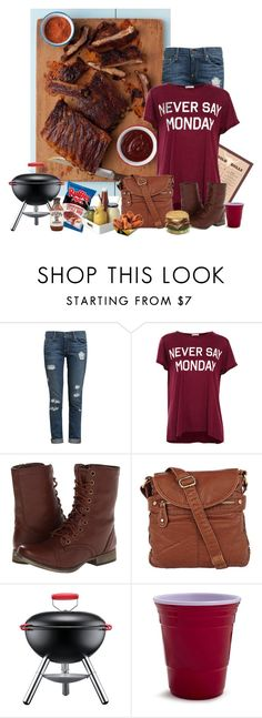 """""""Food Challenge #7 Pork"""" by miradawnp ❤ liked on Polyvore featuring Paige Denim, Pull&Bear, Skechers, Lori's Shoes and Bodum"""
