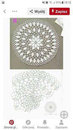 Crochet Lace Edging, Crochet Flower Patterns, Crochet Mandala, Lace Patterns, Crochet Stitches, Crochet Carpet, Crochet Home, Lace Doilies, Crochet Doilies