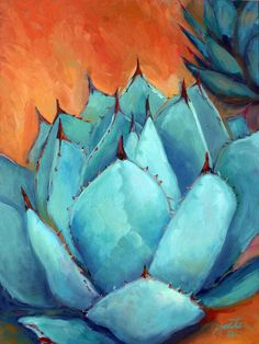 Agave 1 Painting by Athena Mantle - Agave 1 Fine Art Prints and Posters for Sale