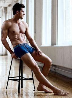 A Chiseled Adam Senn Stars in Simons Spring/Summer 2013 Underwear Lookbook