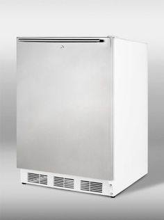 Summit CT66LSSHHADA ADA compliant refrigeratorfreezer for freestanding use with lock white cabinet stainless steel door and thin horizontal handle *** To view further for this item, visit the image link.