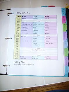 Hope for Homeschool: Organization - Teacher Binder