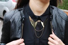 Shop this necklace here: http://paar.bigcartel.com/product/golden-peter-pan-necklace