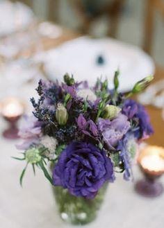purple lavender vase decorations flowers reception decor centerpieces miscellaneous candles real classic green rose violet Summer romantic  bouquet color wedding Sonoma  California