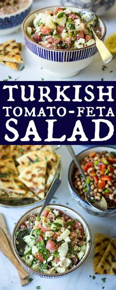 Whether enjoyed as a salad, side, or wrapped in pita, this Turkish Cucumber, Feta, and Tomato Salad is one meze you don't want to miss!