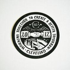 WMC Fest 2012 Handshake Sticker by Jon Contino of CXXV Clothing $1  #sticker #design #wmcfest