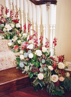 wedding flowers - photo by Archetype Studio http://ruffledblog.com/at-home-wedding-in-texas