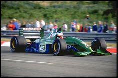 [IMG] The Jordan 191 was the first Formula One car built by Jordan Grand Prix and participated in the 1991 Formula One season. Michael Schumacher, Grand Prix, F1 Model Cars, Clay Regazzoni, Formula 1 Car, Ford, Vintage Race Car, F1 Racing, Indy Cars