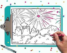 Cute printable coloring cards and coloring pages! Just download, print at home, and color! - The spaces are large enough to be colored confidently but adults *and* kids. Click through for more designs - your purchase helps support an independent female artist! | DIY adult coloring.