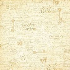"""**NEW**Graphic 45: Secret Garden Collection 12""""x12"""" Paper: Seed Fairy"""
