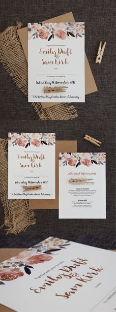 Beautiful Peonies Wedding Invitation - Be My Guest