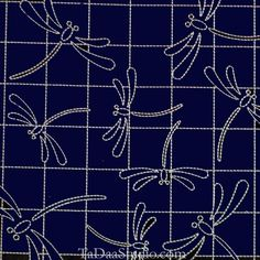 Sashiko sampler - Dragonflies