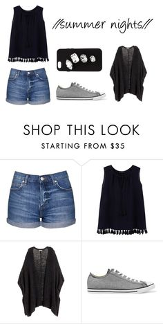 """""""// summer nights //"""" by autumndays-jpeg ❤ liked on Polyvore featuring Topshop, Violeta by Mango, Converse and STELLA McCARTNEY"""