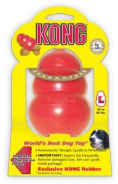 Classic Kong Rubber Dog Toy -- Check out the image by visiting the link. (This is an affiliate link and I receive a commission for the sales) Kong Dog Toys, Dog Chew Toys, Best Dog Toys, Best Dogs, Dog Lovers, Just For You, Puppies, Pets