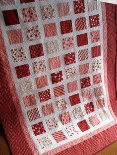 Simply CANDY KISSES 54x80 Valentine quilt by pinetreelodge on Etsy, $185.00