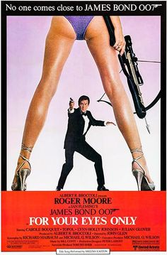 For Your Eyes Only (United Artists, Insert X James Bond. Starring Roger Moore, - Available at Sunday Internet Movie Poster. 80s Movie Posters, 80s Movies, Movies 2019, I Movie, Cinema Posters, Art Posters, Movie Stars, Poster Prints, Casino Royale