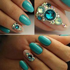 Buy Nail Jewels Glitter Gems Mixed Style Art Box Manicure Nail Art Decoration at Wish - Shopping Made Fun Swarovski Nails, Crystal Nails, Rhinestone Nails, Bling Nails, Gem Nails, Nail Manicure, Nail Polish, Hair And Nails, Jewel Nails