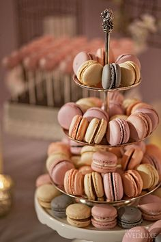 Macarons | Dessert Tablescape | Pink & Cream California Wedding | Wedluxe