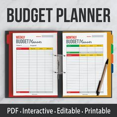 Budget Planning Kit  Interactive  Editable PDF  by DIYmini on Etsy