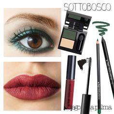 Geisha mat liquid lipstick and green eye pencil by #diegodallapalma fall/winter 15/16 collection