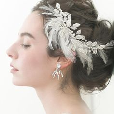 Lace Hairpiece, Hair Pieces, Bridal Hair, Hair Accessories, Crown, Hair Styles, Earrings, Wedding, Jewelry