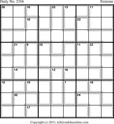 Welcome to Killer Sudoku Online Magic Squares, Puzzles, Play, Archive, Paper, Favorite Things, Desktop, Printable, School