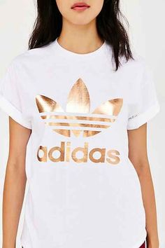 Really, really want this!! adidas Rose Gold Double Logo Tee in size Medium…