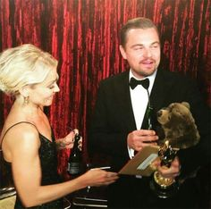 Kelly Ripa Gives Leonardo DiCaprio A Stuffed Bear After His Best Actor Win Hollywood Life, Hollywood Stars, Leonardi Dicaprio, Social Media Daily, Oscar Wins, Kelly Ripa, Front Runner, Kevin Hart, Academy Awards