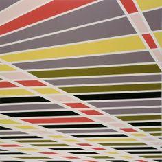 Sarah Morris   Midtown - The New York Hilton (carport) (1999)   Artsy