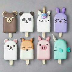 Anime Popsicles baking backen mitbringsel Best Picture For Polymer Clay Crafts For Your Taste You are looking for something, and it is going to tell you exactly what you are looking for, Polymer Clay Kawaii, Polymer Clay Charms, Polymer Clay Creations, Biscuit, Magnum Paleta, Kreative Desserts, Cute Baking, Rainbow Food, Cute Clay