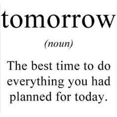 The meaning of tomorrow