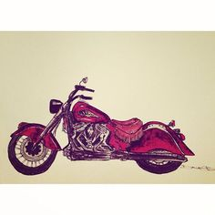 Indian Motorcyle by Dallas Brooks Dallas Art
