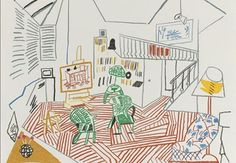 David Hockney - Pembroke Studio Interior