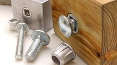 1/2 Carriage Bolt Fastener Insert into any material, No More Carriage Bolt Spinning when tighten bolt.